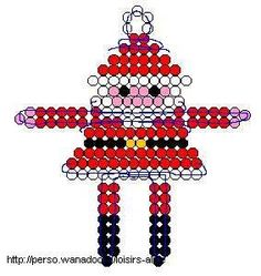 Père Noël en perles