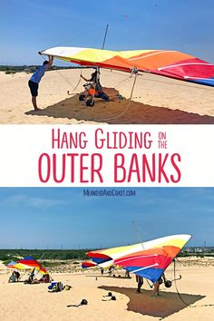 Looking for a different outdoor adventure? Take a dune hang gliding lesson in the Outer Banks. It's an adventure the whole family will love. Family Adventure, Adventure Travel, Travel With Kids, Family Travel, White River Rafting, Brazil Carnival, Hang Gliding, Whitewater Kayaking, Outdoor Recreation