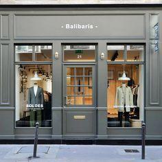 Best menswear in paris all around the world фасады домов, ма Boutique Interior, Boutique Deco, Cafe Interior, Shop Interior Design, Store Design, Design Shop, Facade Design, Exterior Design, Storefront Signage