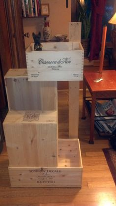 Puzzle Tower Wine-Crate Cat Condo, with Scratcher