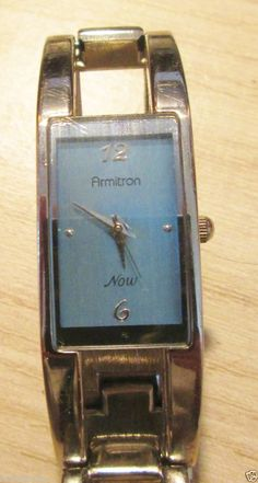 Women's Blue Face Armitron Now Wrist Watch, QUARTZ SS Back NEW Battery Ladies #Armitron #7ashion