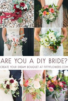 Are you a DIY Bride? Create your Dream Bouquet with Wholesale Flowers from FiftyFlowers.com!
