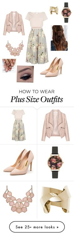 """Untitled #213"" by gabrielarent on Polyvore featuring Coast, Zizzi, Rupert Sanderson, Olivia Burton, women's clothing, women, female, woman, misses and juniors"