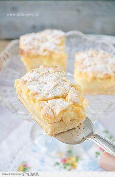 Szarlotka z budyniem (Apple Pie w Custard) Moose Dessert, Pie Dessert, Dessert Recipes, Apple Custard, Custard Cake, Custard Slice, Pear Recipes, My Recipes, Cooking Recipes