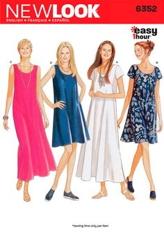 Misses Dress New Look Sewing Pattern No. 6352