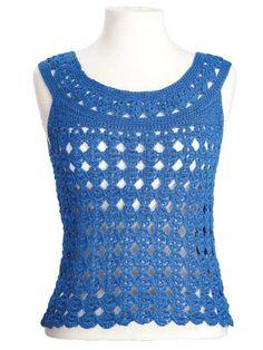 CrochetKim Free Crochet Pattern | Marilyn Sleeveless Top @crochetkim Small size free, larger pattern sizes available for $5.99