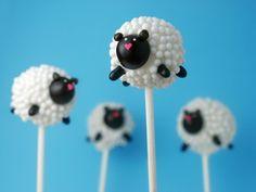 Cute cake pops sheep