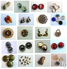Schiaparelli buttons, various eras, all from the BillyBoy* collection.