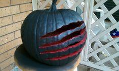 Nightmare on elm street pumpkin ****halloween carving idea**** Halloween Horror, Halloween 2019, Holidays Halloween, Jack O'lantern, Amazing Pumpkin Carving, Scary Pumpkin, Pumpkin Carvings, Pumpkin Faces, Halloween Party Decor