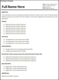 cfo cover letter Example Of Simple Resume Format. Cover Letter Sample For Job . Resume Format Examples, Professional Resume Examples, Sample Resume Format, Sample Resume Templates, Job Resume Samples, Basic Resume, Resume Work, Good Resume Examples, Student Resume