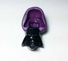 Big 3D Darth Vader Silicone Mold (38mm) - Cupcake Topper, Cake Decor, Sugarcrafts Fondant, Gum Paste, Resin, Chocolate, Candy, Polymer Clay