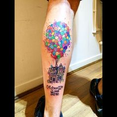 Again not a great picture. Up house for Lewis #up #uphouse #pixar #pixartattoo…
