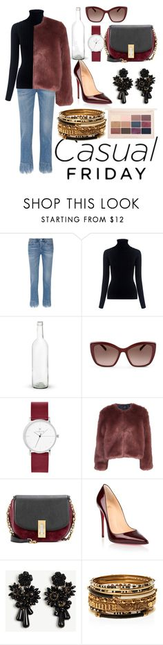 Untitled #167 by jitske-demolie on Polyvore featuring M.i.h Jeans, Stine Goya, 3x1, Christian Louboutin, Marc Jacobs, Amrita Singh, Ann Taylor and Karl Lagerfeld