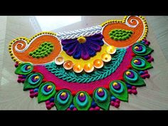 Diwali Dussehra special Rangoli designs by Jyoti Rathod Easy Rangoli Designs Videos, Rangoli Designs Simple Diwali, Rangoli Designs Peacock, Indian Rangoli Designs, Rangoli Designs Latest, Free Hand Rangoli Design, Rangoli Border Designs, Small Rangoli Design, Rangoli Patterns