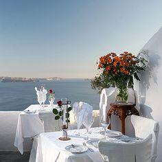 Ambrosia - Santorini, Greece ... Greek seafood, with views of the Aegean Sea, the caldera cliffs and volcanic islands.