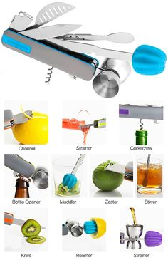 BAR10DER - Ultimate Bartending Multi-Tool - The Green Head. I think I might like to have one.