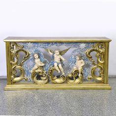 Console aparador, em madeira nobre, em estilo barroco, ..