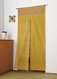 New Japanese Curtain Long Noren Mustard Yellow From Japan   EBay