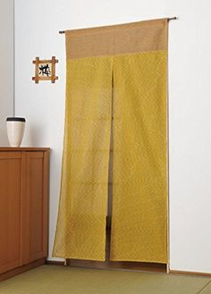 New Japanese Curtain Long Noren Mustard Yellow from Japan | eBay
