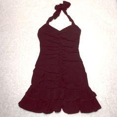 BCBGmaxazria little black dress Sz. XS Black halter BCBGMAXAZRIA dress size XS worn once! Absolutely adorable. BCBGMaxAzria Dresses