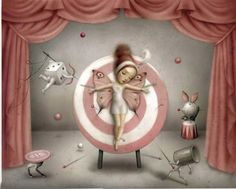 The Magician's assistant - Dark and dreamy works by Nicoletta Ceccoli #art #painting #mark #ryden #lowbrow
