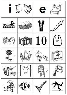Free Short E vs. Short I Picture Sort Literacy Center #PhonemicAwareness #Phonics
