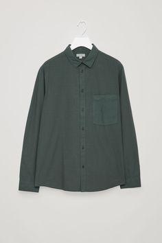 COS | Washed-cotton shirt Wardrobe Sale, Small Wardrobe, Denim Button Up, Button Up Shirts, Nyc Fall, Anti Fashion, White Shirts, Fall Outfits, Long Sleeve Shirts
