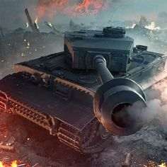Tiger is power . Military Guns, Military History, Military Vehicles, Tank Wallpaper, Military Drawings, German Soldiers Ww2, War Thunder, Tiger Tank, Tank Destroyer