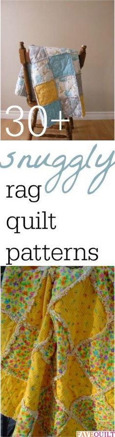 38 Snuggly Free Rag Quilt Patterns | FaveQuilts.com