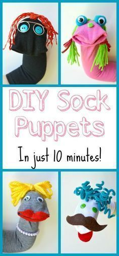 These sock puppets are so easy and a ton of fun! Perfect DIY project for kids #italianlessonsforkids #funcraftsforkids