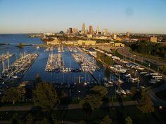 Detroit-Shoreway at Cleveland, OH Edgewater Park, Downtown Cleveland, Battery Park, Lake Erie, San Francisco Skyline, Detroit, The Neighbourhood, Rocks, Urban