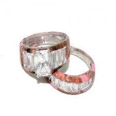 Camo Diamond Engagement Rings | Camo diamond wedding band → camo diamond wedding band pink