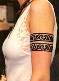 Tribal Armband Tattoos for Girls