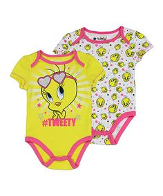 Look what I found on #zulily! '#Tweety' Bodysuit Set - Infant #zulilyfinds