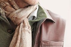 Vintage map scarf from Luciano Barbera