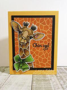 Laura's Stamp Art Journal: IO Challenge- You're an Animal (Animal Cards)