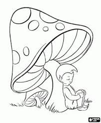 free printable mushroom patterns Simple shapes Coloring