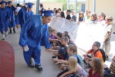 Graduating seniors of Safford High School toured the district's middle school, elementary schools and Solomon Elementary School as an example to younger students what can be achieved with hard work
