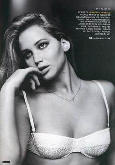 Jennifer Lawrence - love her in the hunger games & she's incredibly beautiful!