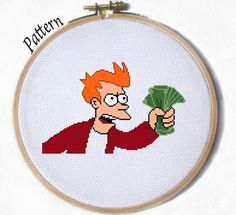Looking for your next project? You're going to love Futurama Fry Meme Cross stitch pattern by designer Juliefoo. - via @Craftsy