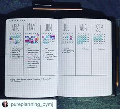 I always run out of room in my future log. I love these@pages by @pureplanning_bymj. Writing the months vertically gives her lots more room. #Repost…