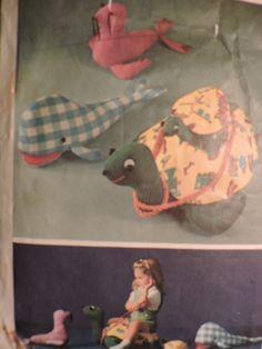 SeeSallySew.com - Sea Turtle Whale Costume Patterns, Craft Patterns, Cool Patterns, Vintage Patterns, Doll Toys, Dolls, Lingerie Patterns, Vintage Crafts, Cross Stitch Patterns