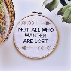 Not All Who Wander Are Lost Inspirational by StrandsAndStitcherie