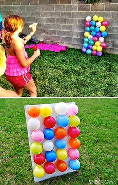 Tolle Spiel Ideen für Draussen – Erwachsene und Kinder *** 32 Of The Best DIY Backyard Games You Will Ever Play – Balloon darts! Great Game Ideas for Outdoor – Adult and Kids *** 32 Of The Best DIY Backyard Games You Will Ever Play – Balloon Darts! Diy For Kids, Crafts For Kids, Summer Crafts, Backyard Party Games, Outdoor Party Games, Outdoor Birthday Games, Diy Garden Games, Outdoor Birthday Decorations, Camping Party Decorations