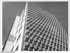 Halle high rise facade, DDR March 1967