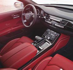 Audi Interior #Red #Interior #Audi
