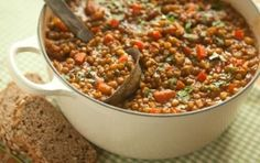 This simple and delicious recipe substitutes lentils for beans. Serve over brown rice or with whole-grain hearth bread! You can also freeze ...