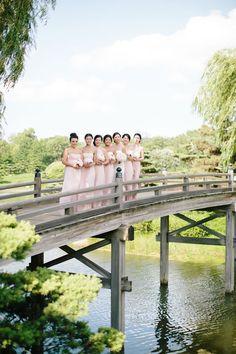 Blush pink bridesmaid dresses are so feminine and pretty | Chicago Botanic Garden Wedding | Jenelle Kappe Photography
