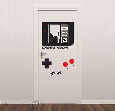 Gameboy sticker little boys room! so cute