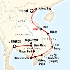 Explore the bustling streets of Bangkok, revel in the majesty of Angkor Wat, enjoy a delicious local Khmer meal in a small village, relax on golden beaches, shop Hoi An's quaint streets, float through Halong Bay.